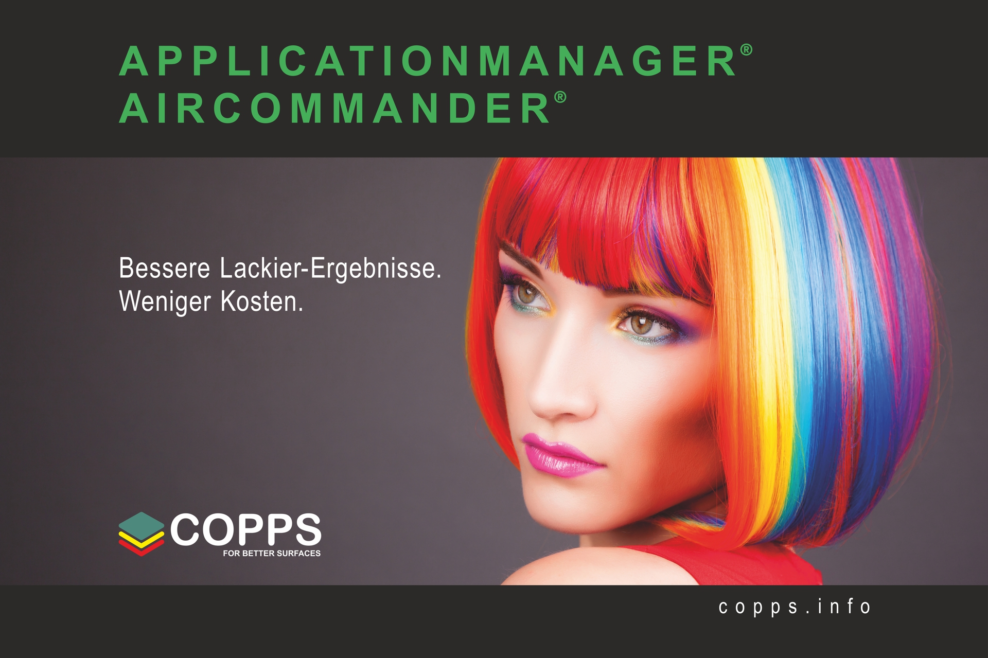 Aircommander und Applicationmanager von COPPS für bessere Lackier-Ergebnisse und weniger Kosten.