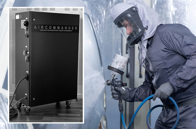 Lackierer mit Aircommander von COPPS GmbH